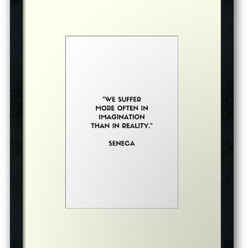 'SENECA Stoic Philosophy Quote' Framed Print by IdeasForArtists