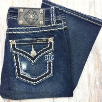 MISS ME XS5014B107 RELAXED BOOTCUT JEANS