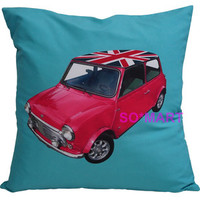 MODERN POP ART PILLOW CASE CUSHION COVER SHAM Printed Mini Cooper