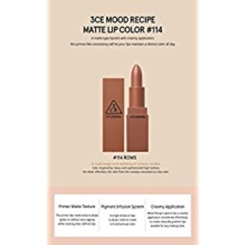 3CE (3 Concept Eyes) Mood Recipe Matte Lip Color (#115)
