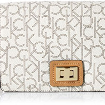 CALVIN KLEIN ASHLEY MONOGRAM CROSSBODY, ALM KHK/CASHEW SAFF