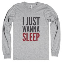 I Just Wanna Sleep Long Sleeve T-shirt Rb (idc810123)-T-Shirt