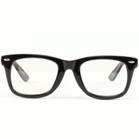 Retro Clear Lens Eye Glasses Black
