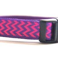 Pink and Purple Chevron Dog Collar Adjustable Sizes (XS, S, M)