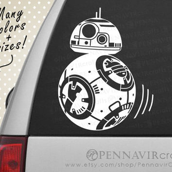 BB8 Droid Decal - Star Wars - Good for car windows, walls, laptops, consoles and more!