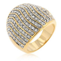 Pave Crystal Cocktail Ring, size : 11