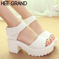 Platform Thick Heel Summer Sandals