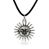Sterling Silver Jewelry - Sterling Silver Mayan Sun Pendant