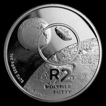 2019 South Africa 1 oz Silver Proof Inventions: Polymer Putty