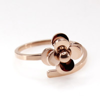Flower Engagement Ring Titanium Steel Jewelry