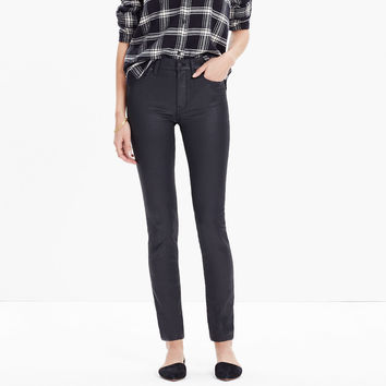 "9"" High-Rise Skinny Jeans: Coated Edition"
