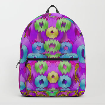 Festive metal and gold in pop-art Backpack by Pepita Selles