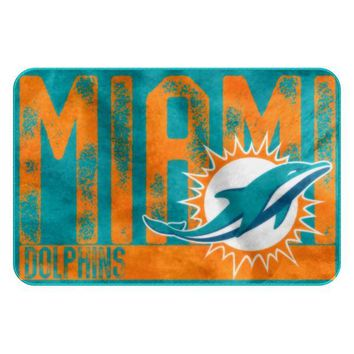 Miami Dolphins NFL Worn Out Bath Mat