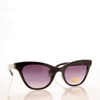 Cat Eye Sunglasses with Splashes Front YELLOW