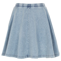 Lightwash Denim Skater Skirt - Skirts - Clothing - Topshop