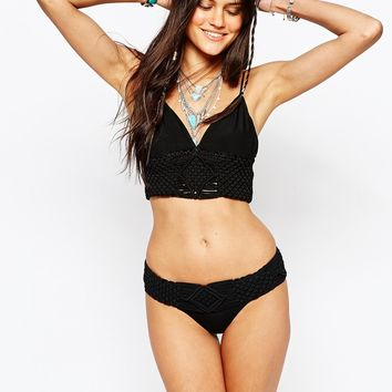 Flook Ebony Long Line Bikini Top