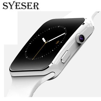 SYESER S6 Bluetooth Smart Watch Support Camera SIM Card sport wearable devices For iPhone Android Phone pk Smartwatch A1 DZ09 S3