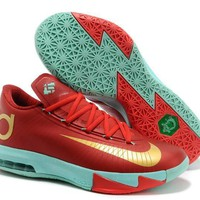 Nike Zoom KD 6 Kevin Durant ¢ö ¡±Christmas Gold¡° Basketball Shoes