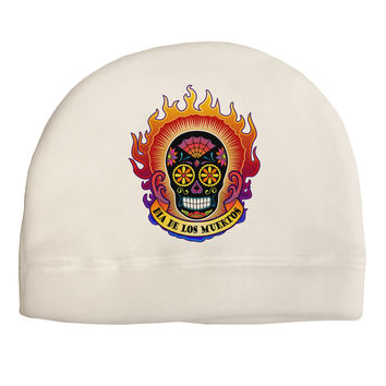 Dia de los Muertos Sacred Calavera Day of the Dead Child Fleece Beanie Cap Hat