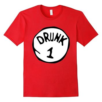 Drunk 1 Trick or Treat Holiday Halloween Costume T-Shirt