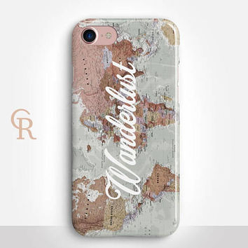 Wanderlust Phone Case For iPhone 8 iPhone 8 Plus - iPhone X - iPhone 7 Plus - iPhone 6 - iPhone 6S - iPhone SE - Samsung S8 - iPhone 5