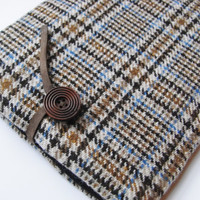 ipad Air  Case / Nexus 9 / Kindle Fire HDX / Galaxy Tab Sleeve 100%   English Wool Fabric