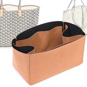 Regular Style Nubuck Leather Handbag Organizer for Goyard St Louis and Anjou Tote Bags