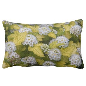 Pacific Ninebark Floral Lumbar Pillow