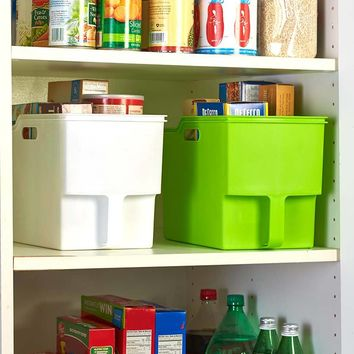 Oversized Large Handled Storage Bins Dry Goods Pantry Organization Staples