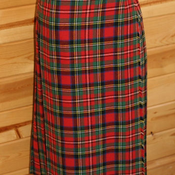 Vintage Pitlochry Tartan Plaid Kilt for Ladies