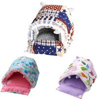 2017 New S/M/L/XL Hedgehog Pet Hamster Mat Cage House Nest Rat Mouse DIY Bed Farm Animal Supplies