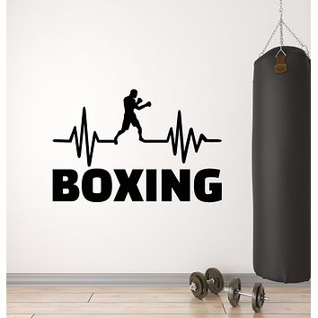 Vinyl Wall Decal Fight Club Boxing Gym Fitness Cardio Sport Stickers Mural (g2530)