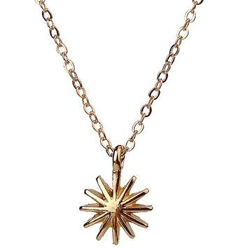 Fashion Round Sun Flower Star Pendant Necklace