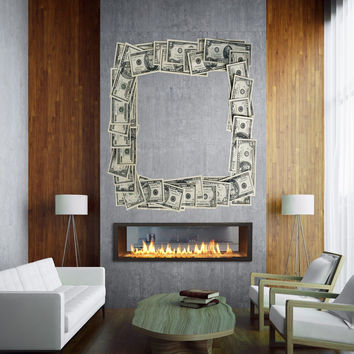 Full color Frame Photo Dollars sticker, Dollars Decal, wall art decal gc271