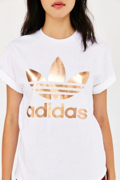 adidas Originals Rose Gold Double Logo Tee