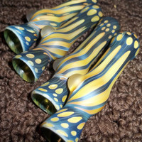 Glass Pipe, Hitter,  Sandblasted Full Color Beautiful Pipe, Chillum, Bat, Made to order, Cgge Team, Ready for shipping