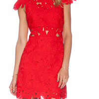 Red Hot Lace Dress | The Handmade Hustle