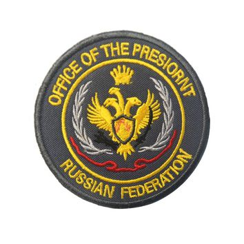 Russian federation pathes Hook office of the president morale patch military  tactical combat uniform  for coat vest Custom