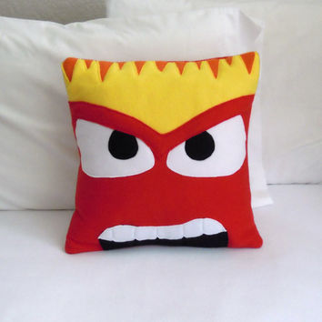 Anger Fleece Pillow, Inside Out