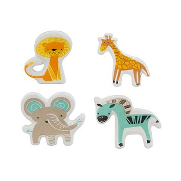 Set of 4 Jungle Animal Knobs or Pulls