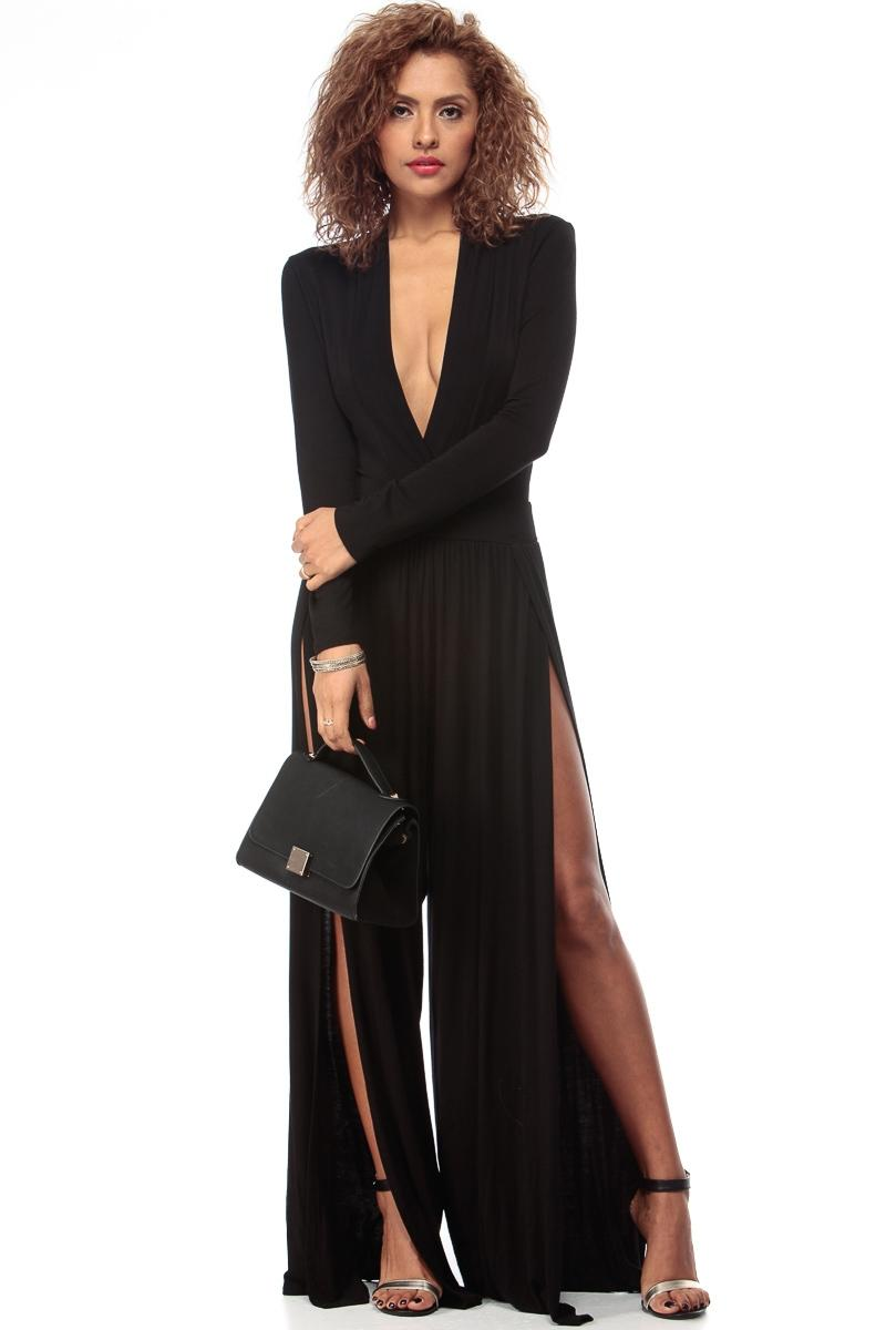 Black And Dressy Palazzo Jumpsuit @ From CICI HOT   Rompers
