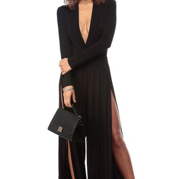 Black and Dressy Palazzo Jumpsuit @ Cicihot sexy dresses,sexy dress,prom dress,summer dress,spring dress,prom gowns,teens dresses,sexy party wear,ball dresses