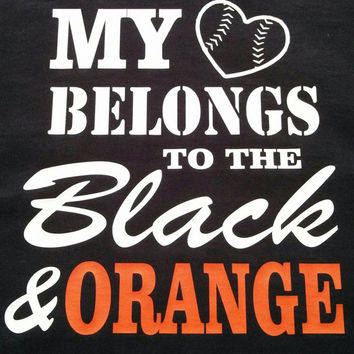 Custom Shirt! Choose Color/ Sport of your choice!! My heart belongs to the...
