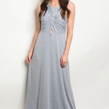 Women's Heather Gray Maxi Dress