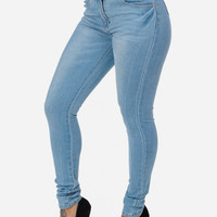 Light Denim High Waist Skinny Jean