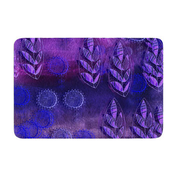 "Marianna Tankelevich ""Summer Night"" Purple Lavender Memory Foam Bath Mat"