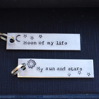 Game of Thrones Key Chain Set - Valentine's Day - Romantic - Sun - Stars - Looks Like Silver - Guys - Under 50 - Stocking Stuffer