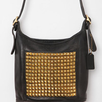 Vintage Studded Square Black Coach Bag