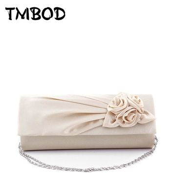 Hot 2018 Women Elegant Floral Silk Satin Pleated Clutches Wedding Bridal Chain Evening Bag Party Club Purse Bag Handbags AB0137