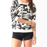 Geo Print Pullover